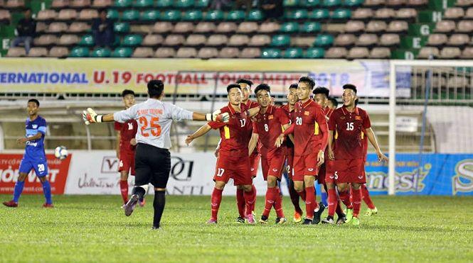 Đội tuyển U19 Việt Nam xuất sắc giành được chiến thắng trước đội bóng kém tầm đến từ Thái Lan