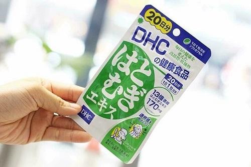 Review viên uống trắng da DHC Coix Extract của Nhật-1