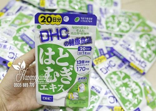 Review viên uống trắng da DHC Coix Extract của Nhật-4