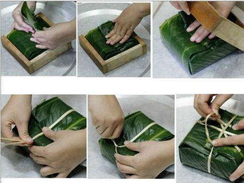 Cách gói bánh chưng dẻo, chặt, đẹp mắt và cực ngon nhé 4