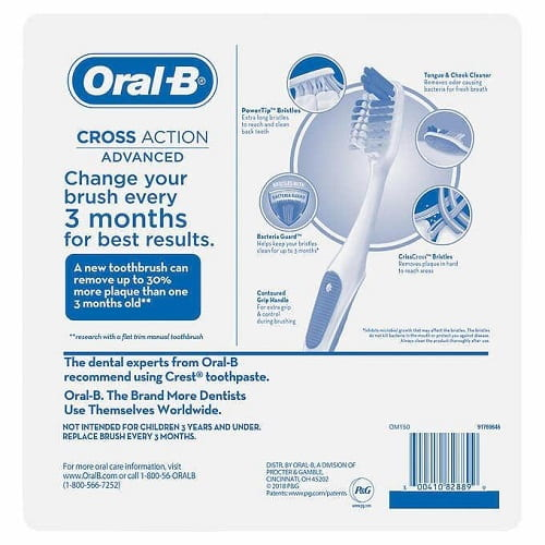 Review set 8 bàn chải đánh răng Oral-B Cross Action Advanced-3