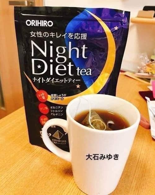Trà giảm cân Orihiro Night Diet Tea review-3
