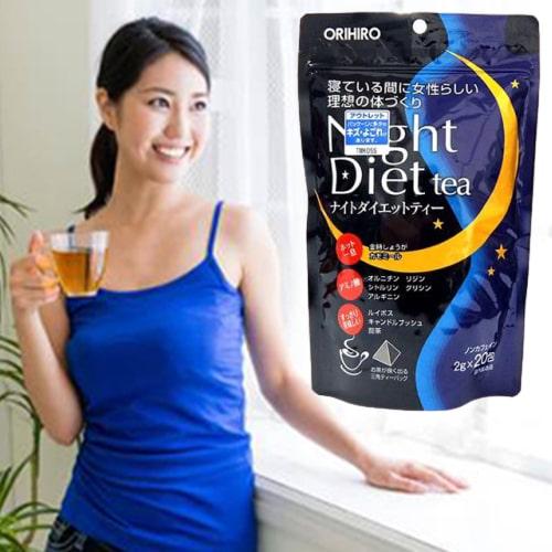Trà giảm cân Orihiro Night Diet Tea review-4
