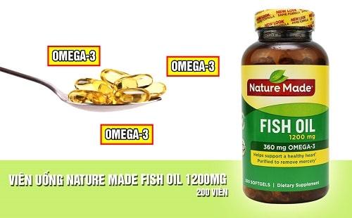 Công dụng của Fish Oil 1200mg Omega-3 360mg Nature Made-2