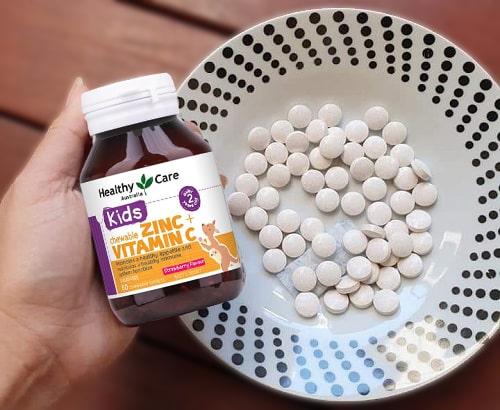 Review viên nhai Healthy Care kids Zinc + Vitamin C-3