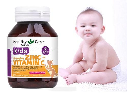 Review viên nhai Healthy Care kids Zinc + Vitamin C-4