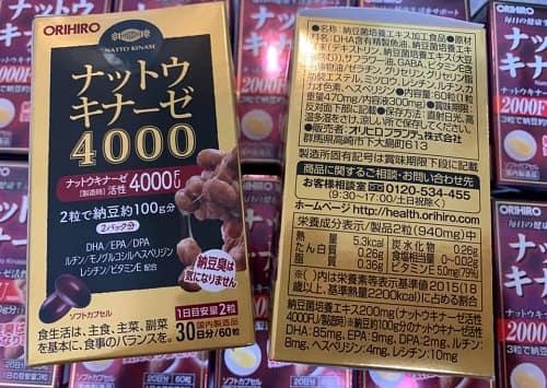 Giá thuốc Nattokinase 4000FU Orihiro bao nhiêu?-1