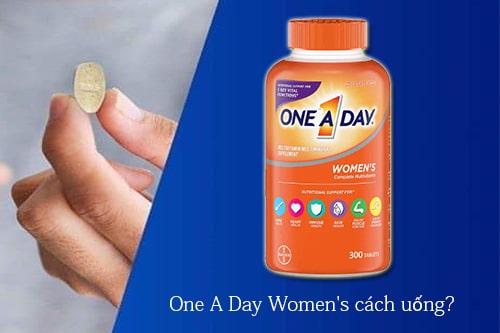 One A Day Women's cách uống hiệu quả?-1