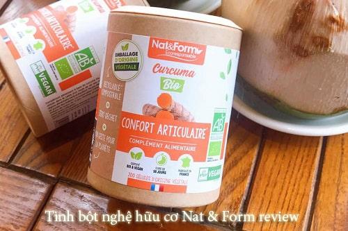 Tinh bột nghệ hữu cơ Nat & Form review-1