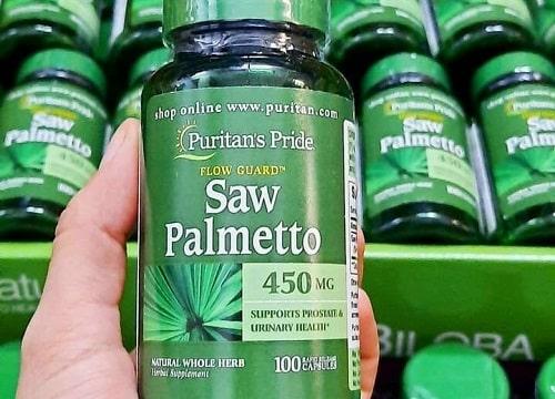 Thuốc Puritan's Pride Saw Palmetto có tác dụng gì?-1